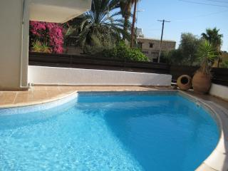 Lemon Tree Court  Peyia village.  FREE WIFI. quiet communal pool, patio/garden