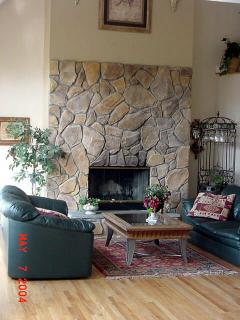 Stone Fire Place in Great Room