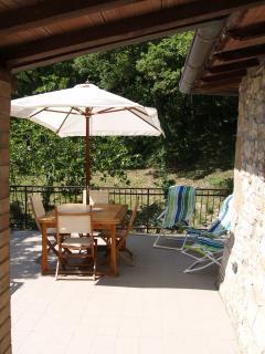 The dining/breakfast terrace....