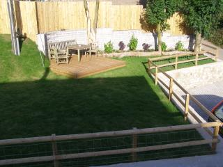 Front lawn and decked area
