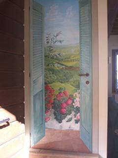 Painted door inside the living room