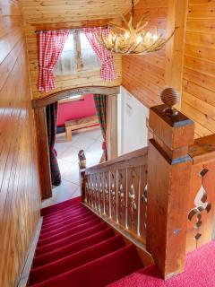 Despite the renovation, the chalet maintains its old charm