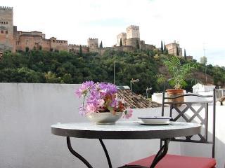 Apartamento con terraza vistas Alhambra, Granada