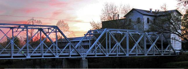 The Finley River bridge and mill at the Ozark city park.