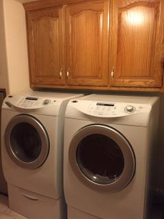 Washer and Dryer available for your laundry needs.