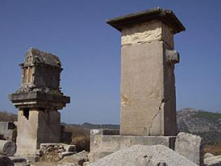 The ruins at Xanthos- one of many historic sites in the area