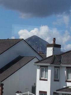 VIEW OF CROAGH PATRICK FROM HOUSE