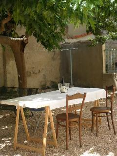 Communal courtyard for dining/relaxing