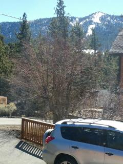 View of Bear Mountain ski from the bedroom window