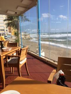View looking from restaurant towards Studio & Beach