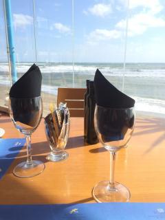 On Beach restaurant next to Studio
