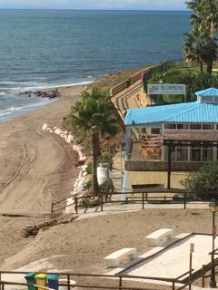 View From Studio of the delightful on beach restaraunt