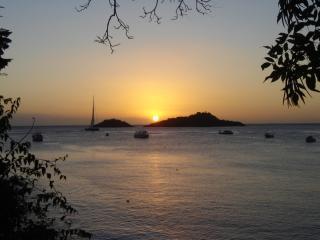 couché soleil depuis la plage de Malendure