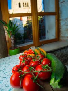 Kitchen, view, with Hektorovic Palace