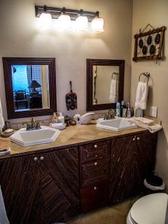 Bathroom  has a double sink