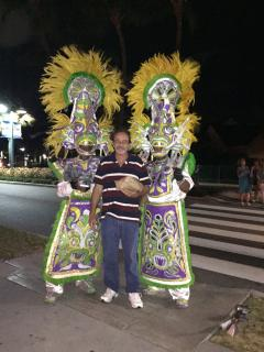 Junkanoo can be see at Atlantis, Paradise Island on Wednesday and Saturday nights at 9:30