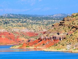 Abiquiu Lake. The Casita del Lago is a lakefront property on Abiquiu Lake.  Spectacular Views!
