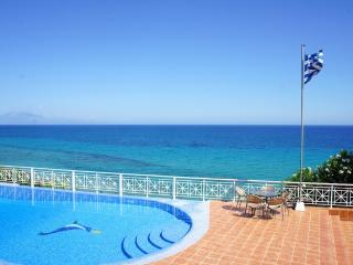 Pool and sea view of the Ionian Sea