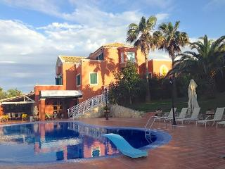 The villa as seen from the pool