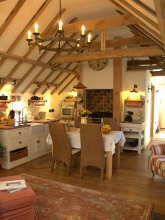 Another picture of the lovely living room in the Hayloft