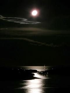 Sea view, Pakleni islands on the moonlight