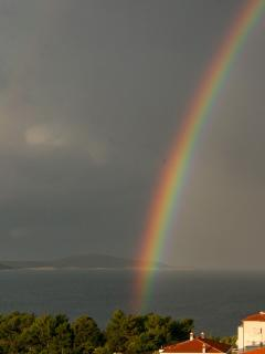 Sea view, rainbow