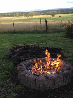 Evenings around a fire pit inspire conversation and reflection. Fire restrictions permitting.