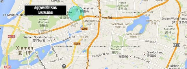Emplacement approximatif de Rossana House à Xiamen