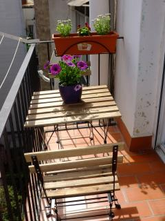 Small table in balcony