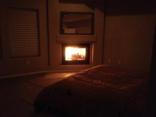2 Natural fireplaces, in master bedroom and main level living space