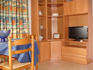 livingroom with flat screen tv that receives 7 UK free-view channels