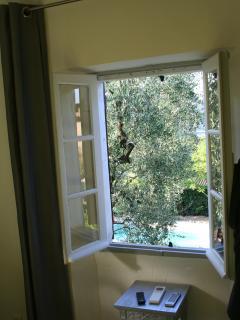 vue depuis la chambre Antibes au 1er étage
