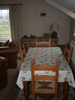 The comfortable living room with views of Catbells and Skiddaw.
