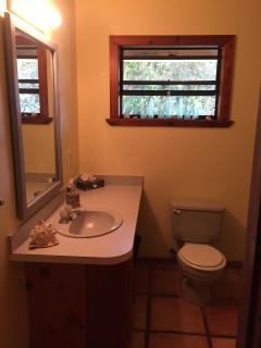 Private bathroom amid the treetops