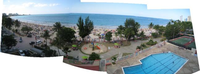 Panoramic view from open balcony