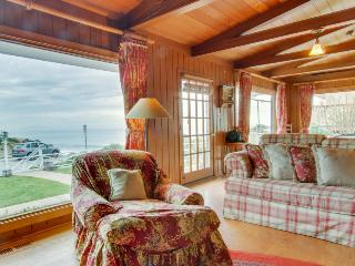 Classic oceanfront beach home with gorgeous views and vintage atmosphere