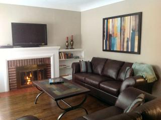 Sparkling hardwood floors.  Gas fireplace. TV, WiFi & phone