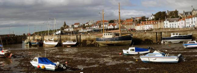 St. Monans Harbour with The Old Post Office in the background