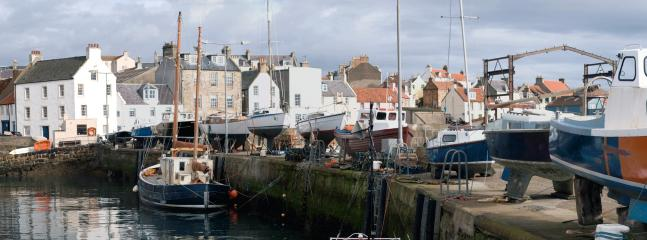 St. Monans harbour right on the doorstep of The Old Post Office