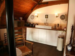 the Kitchenette with sink and micro-oven