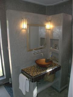A riad style tadelakt bathroom...