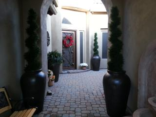 The entry way...the main house is directly in front and the casita has it's own entrance to the righ