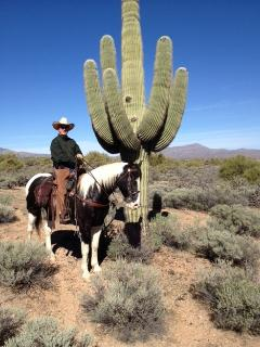 A cool cowboy - one of our many guests!