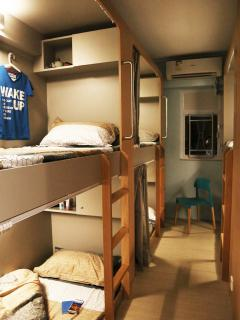 The dorm room for ladies with private shower room