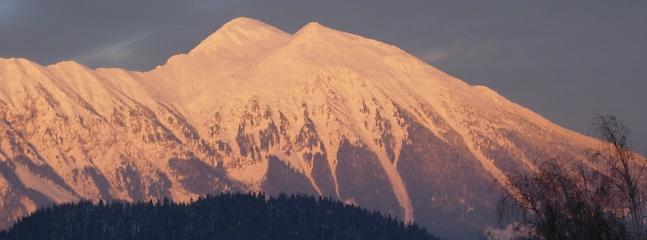 Cordillera de las montañas Karawanken - fantásticas vistas desde el balcón Apartamento 1
