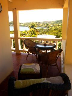 Enjoy meals on the  breezy verandah, or simply chillax .