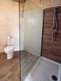 Walk-in shower room ensuite to top floor bedroom