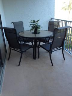 Large Balcony with Patio Table and Chairs