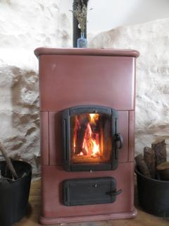The wonderfully warm woodstove