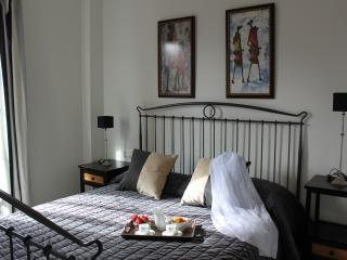 Main bedroom with en suite bathroom and large double bed